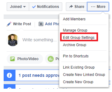 Change Facebook Group Name