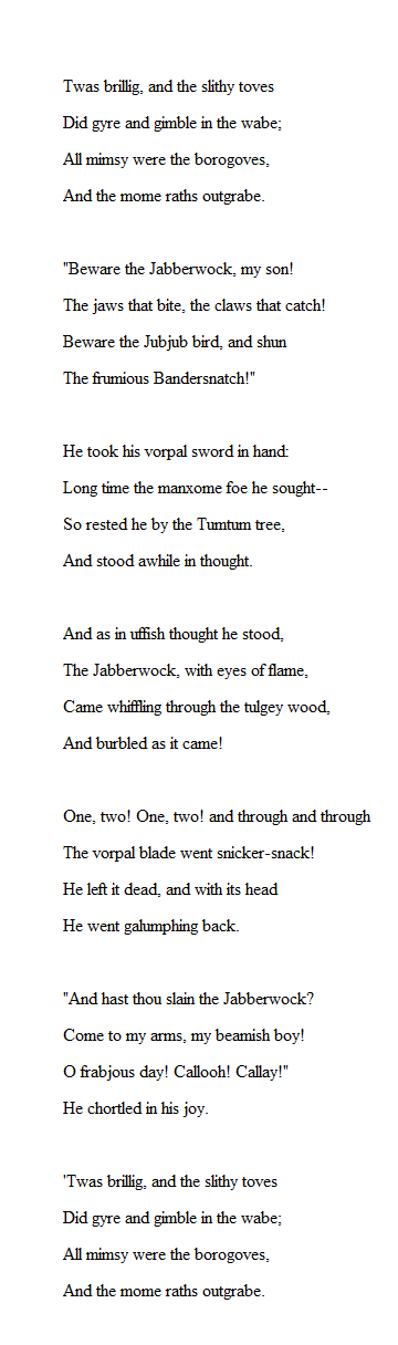 "What is the ""Jabberwocky"" poem about? - mccnsulting.web ..."