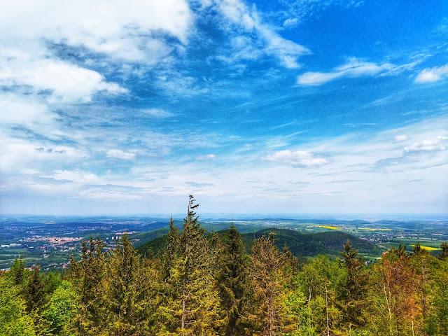 widok na okolice Jedliny Zdrój, Wałbrzych z góry