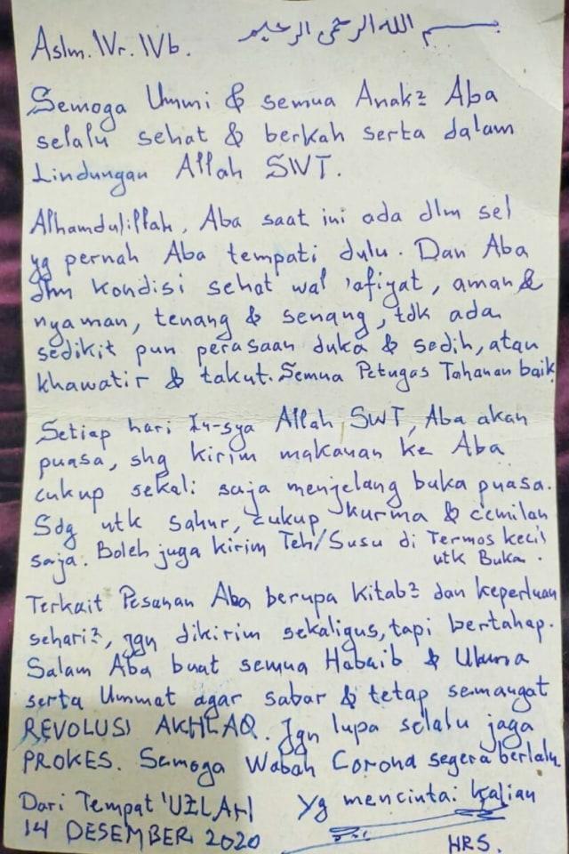 Penampakan Ruang Tahanan dan Surat Sang Imam di Polda Metro Jaya