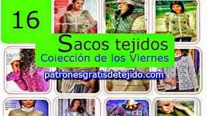 16 patrones de sacos tejidos para dama