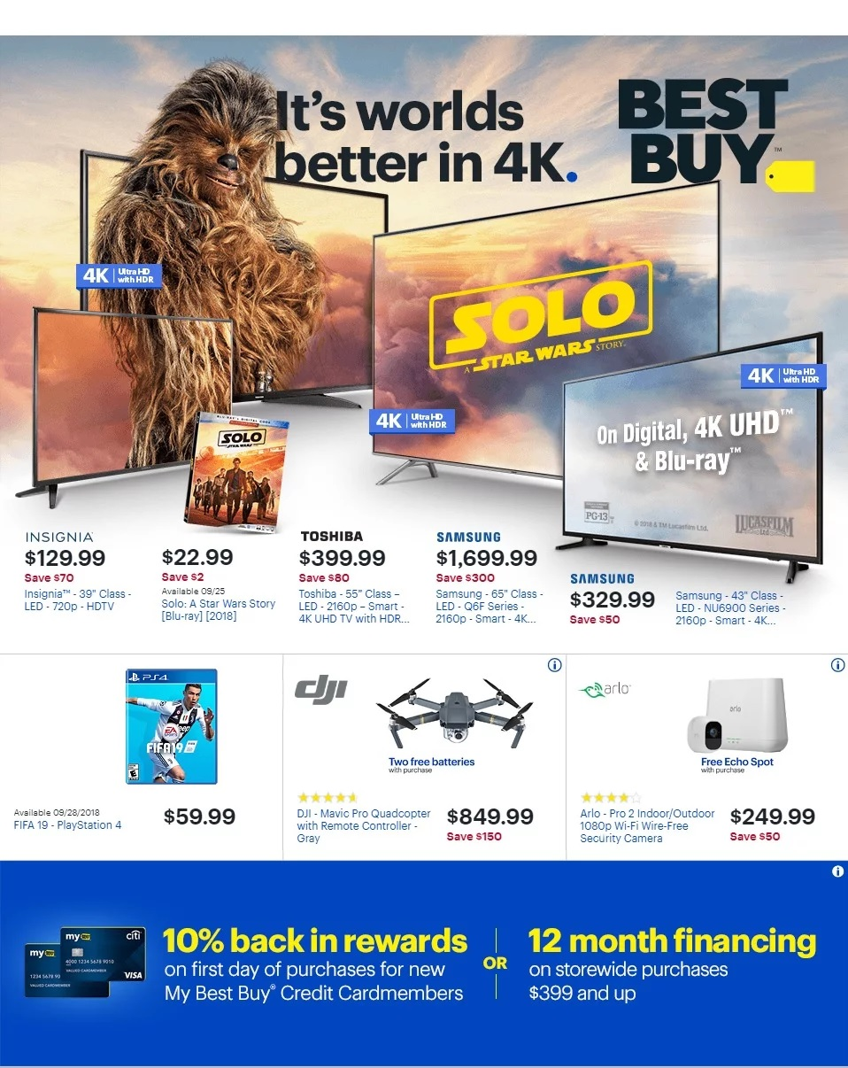 Find here the best Best Buy Weekly Ad September 23 - 29, 2018