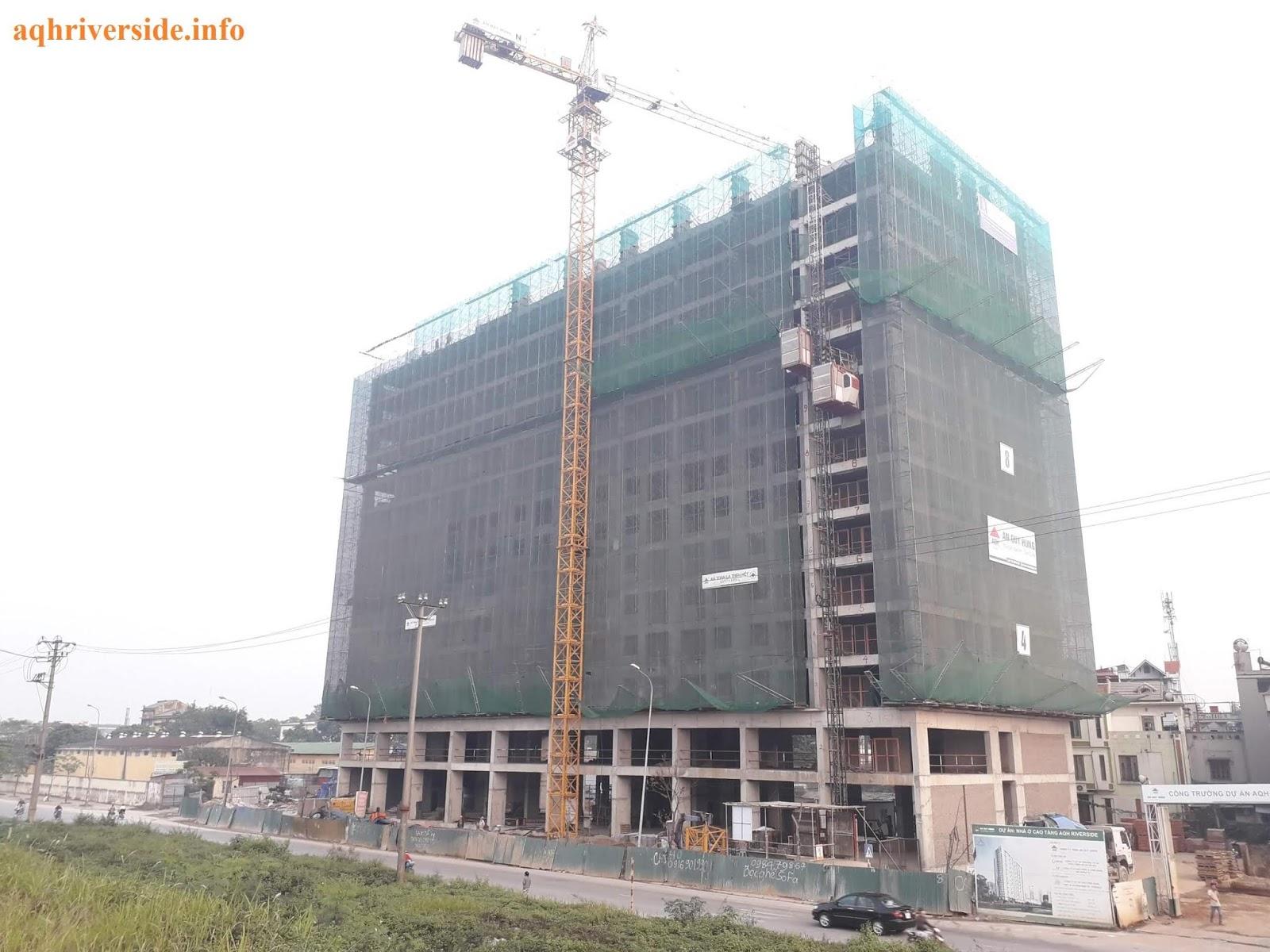 Cận cảnh tiến độ dự án chung cư AQH.