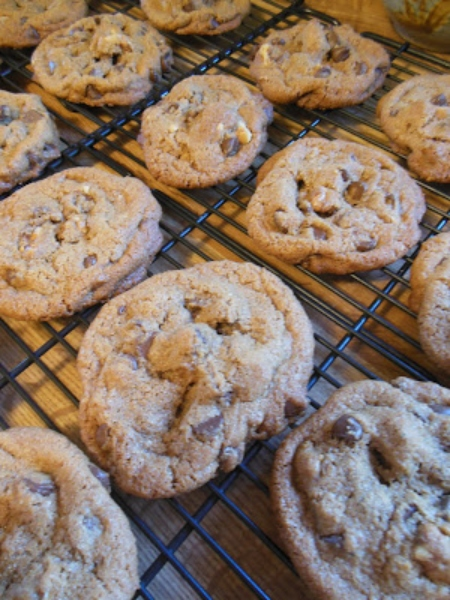 Whole Wheat Browned Butter Chocolate Chip Cookies!