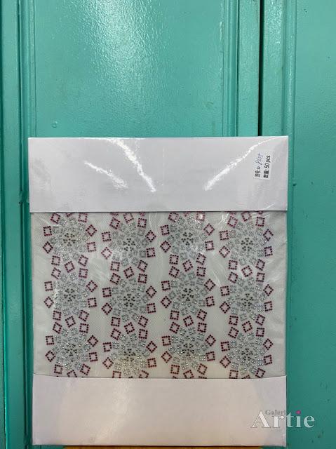 Pelekat hotfix sticker rhinestone DMC aplikasi tudung bawal fabrik pakaian pattern kotak swirl