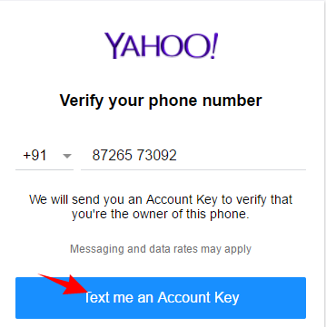 yaho-mail-number-verify
