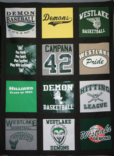 What's New? T Shirt Memory Quilts!