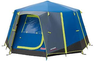 Coleman Octago Tent With Doors Closed