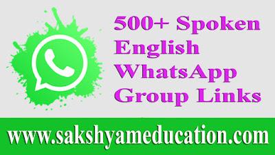 500+ Spoken English WhatsApp Group Links
