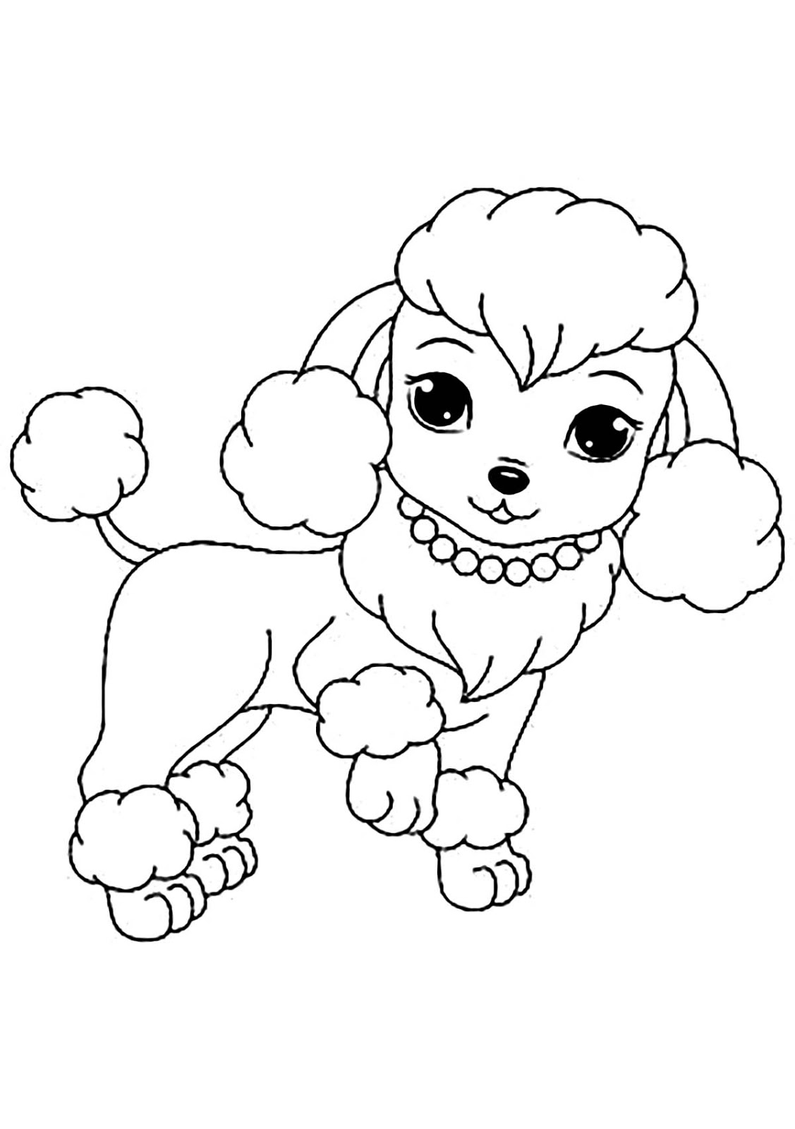 Tranh tô màu những chú chó đeo vòng