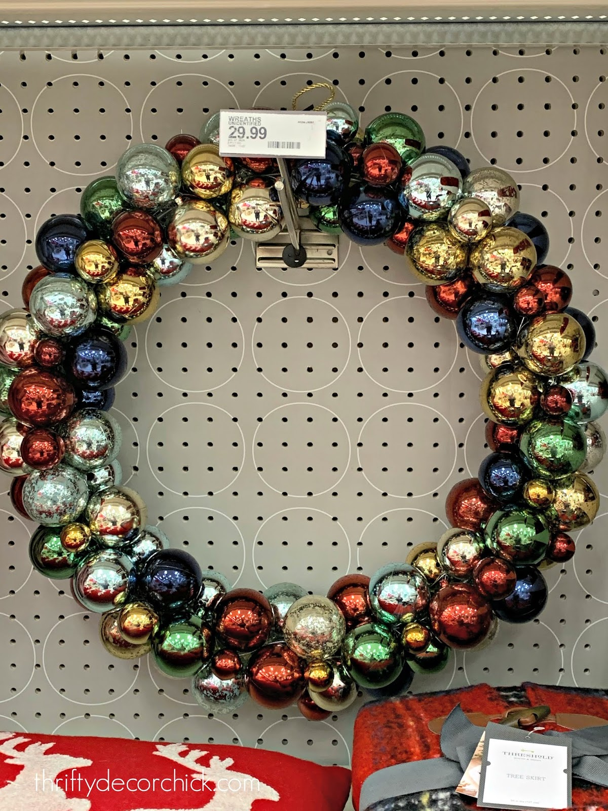 Large multi-color ornament wreath