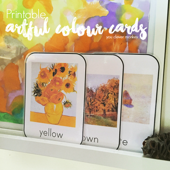 Artful Colour Cards - printable colour cards that use great artworks as colour inspiration | you clever monkey