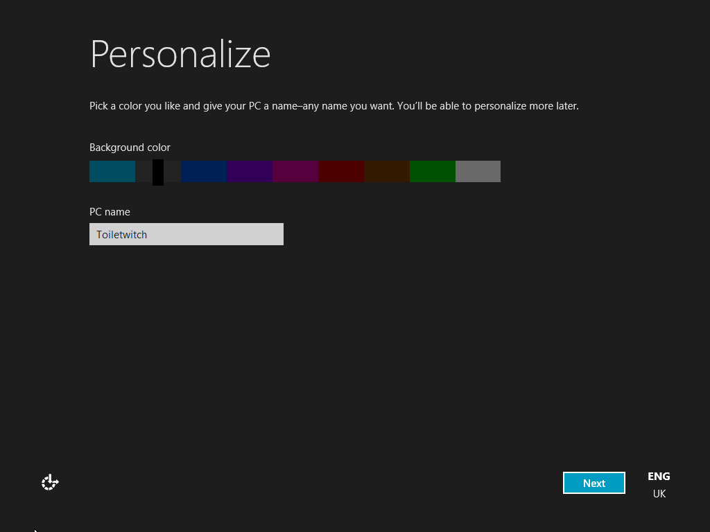 Kodabar dayz blog review love or hate windows 8 once it installed it wanted me to personalize sic the colour i get unnecessarily irritated by stuff like that ive told it im british in britain sciox Choice Image