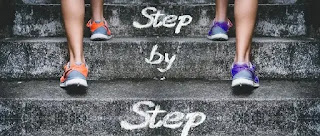 Successful living is step by step.