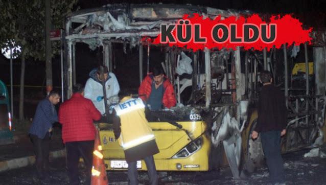 İçinde yolcu olan otobüse molotofla saldırdılar!