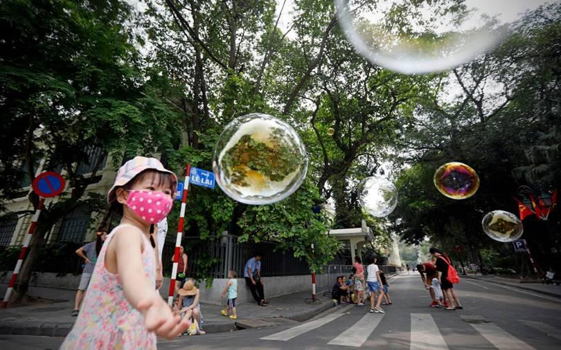 Pedestrian street in Hanoi, Vietnam. (Photo by Luong Thai Linh)