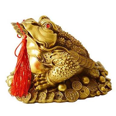 तीन टांगों वाले मेंढक  के घर में रखने के फायदे Teen tango wale medhak ke fayde | Three legged frog in fengshui with coin in mouth
