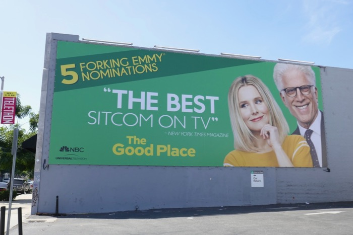 Good Place season 3 Emmy nominee billboard