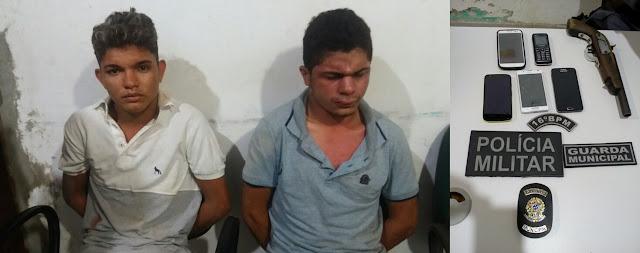 Dupla que estava fazendo vários asslatos em Buriti é presa pela Polícia Militar