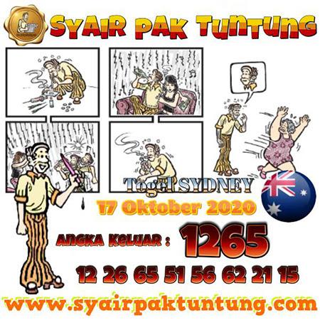 Syair Pak Tuntung Sydney Sabtu 17 Oktober 2020