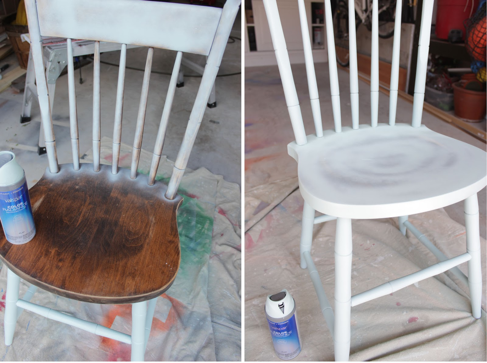 & Spray Painted Chairs - Remodelando la Casa