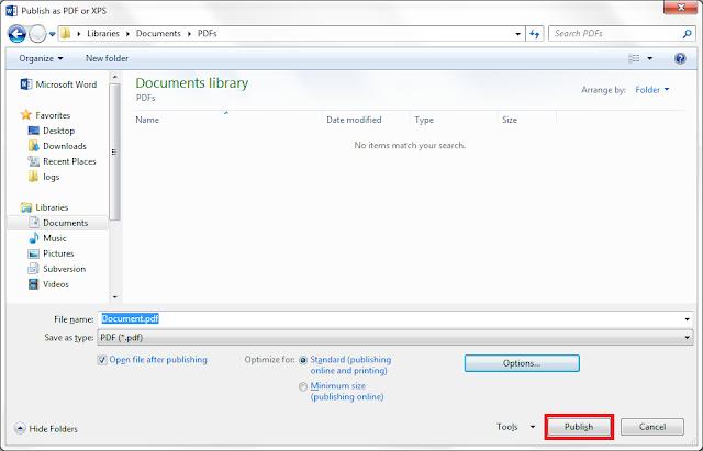 Publish the PDF