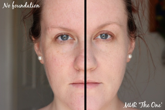 Makeup Revolution The One foundation on half my face