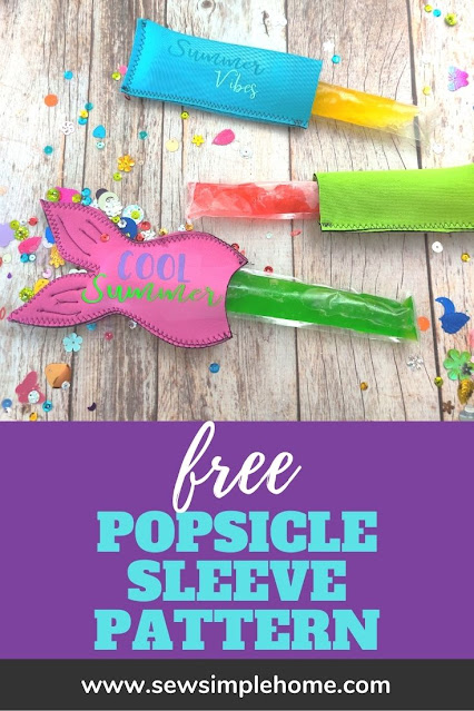 Create your own quick freezer pop holder with this free sewing ice pop holder sewing pattern.