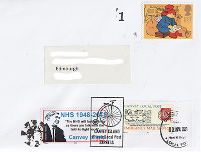 Example of 'Express' cachet Canvey Local Post mail