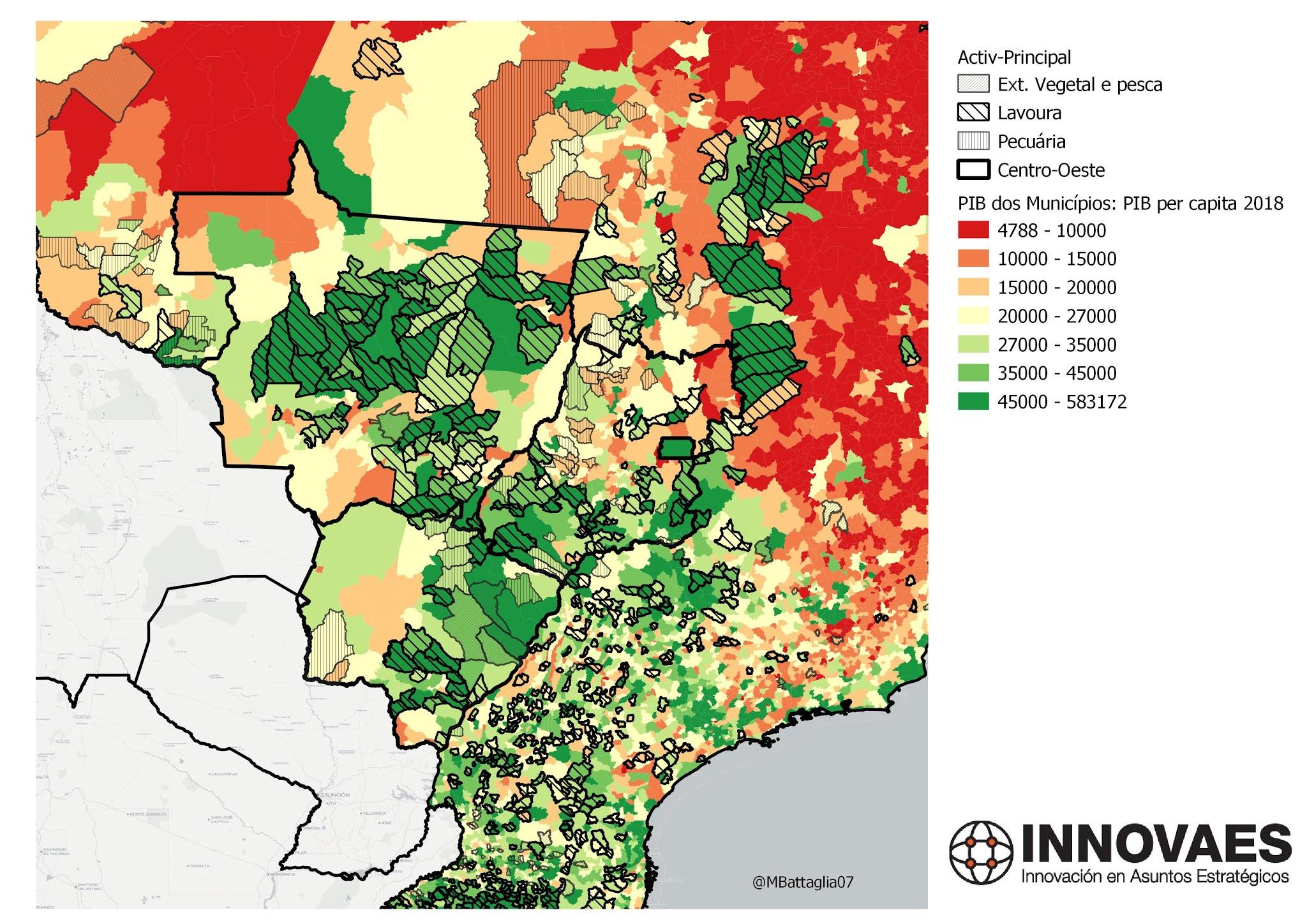 PBI per capita agroindustrial brasil