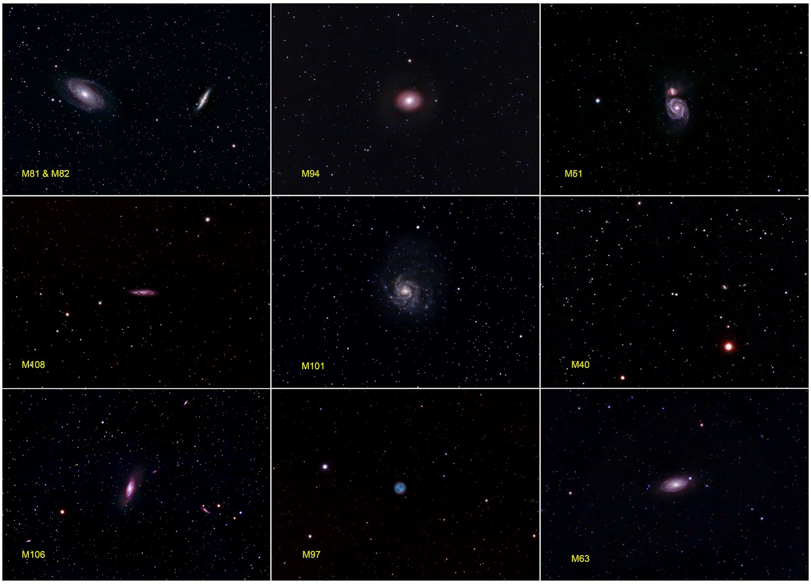Quantum Quest: 10 Messier Objects Around The Big Dipper