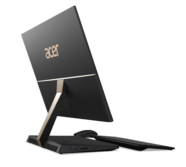 [IFA 2017] máy tính all-in-one Acer Aspire S24: viền siêu mỏng, thiết kế hiện đại, có sạc không dây Qi