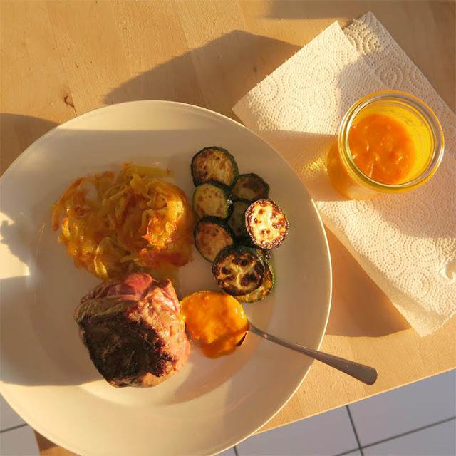 Lammhüfte, Rösti, Zucchini, Tomatonaise | pastasciutta.de