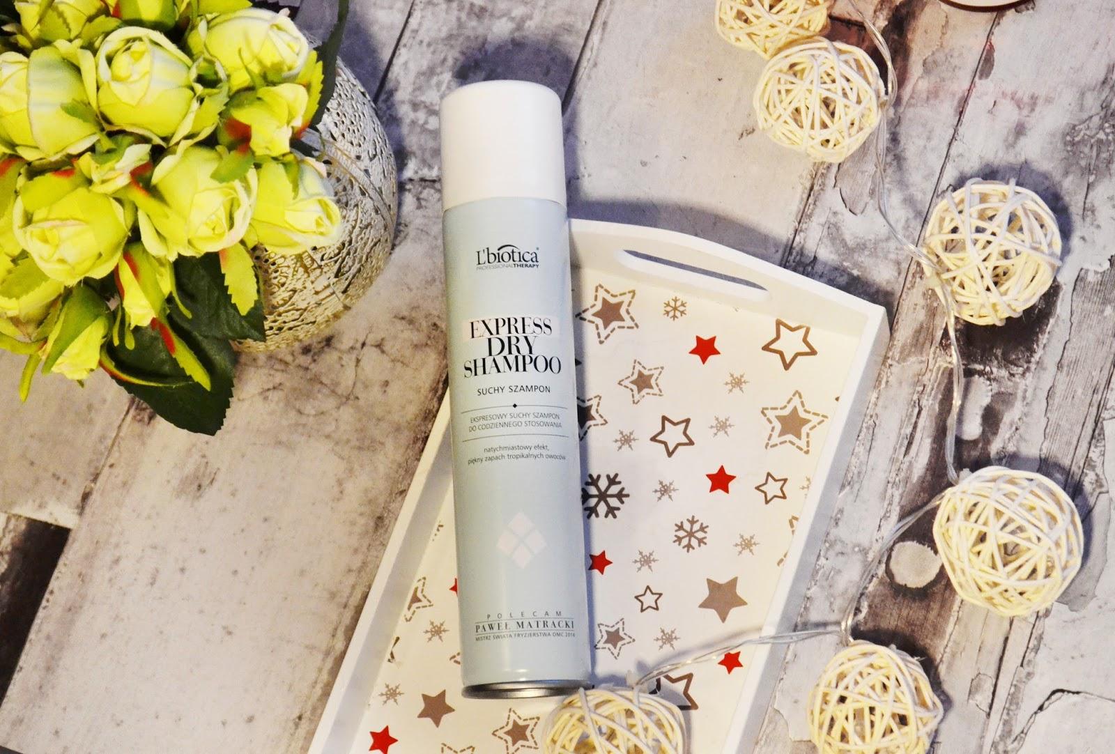 BOX ONLY YOU Dookoła włosów - L'biotica, Express Dry Shampoo, czyli suchy szampon na szybko odświeżenie