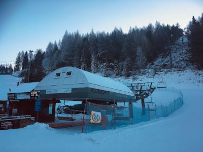 Ośrodek narciarski Czorsztyn Ski, stacja kolejki na górę Wdżar