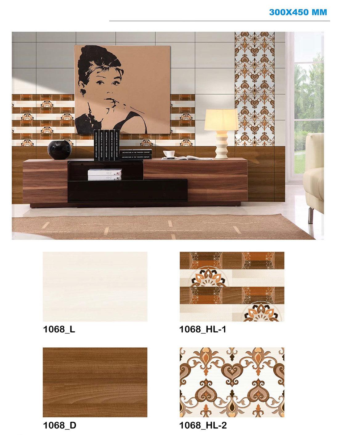 digital wall tiles 12x18 300x450mm