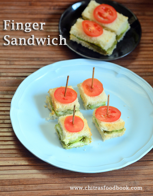 Finger sandwich recipe - Indian style