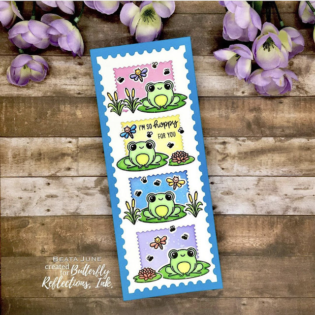 Sunny Studio Stamps: Feeling Froggy Country Scenes Customer Card by Beata June