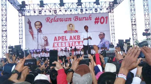 Ini Janji Jokowi untuk Buruh Saat Kampanye Pilpres
