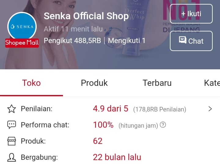 Supplier Produk Kecantikan, Kosmetik & Skin Care di Shopee Mall