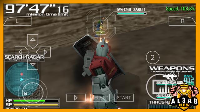 تحميل لعبة Gundam Battle Tactics لاجهزة psp ومحاكي ppsspp بصيغة ISO و مضغوطةمن الميديا فاير