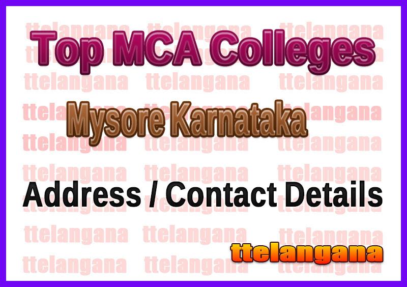 Top MCA Colleges in Mysore Karnataka