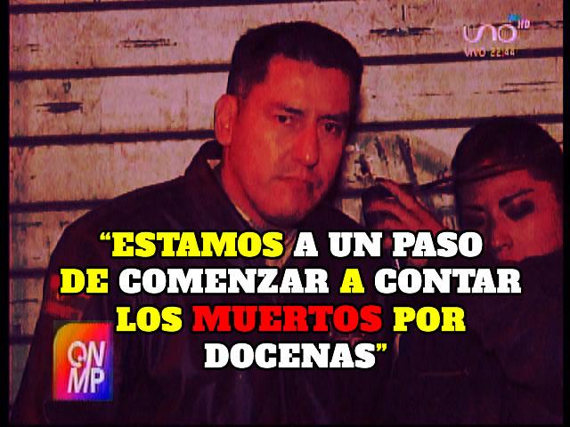 Javier Zabaleta: Estamos a un paso de comenzar a contar los muertos por docenas