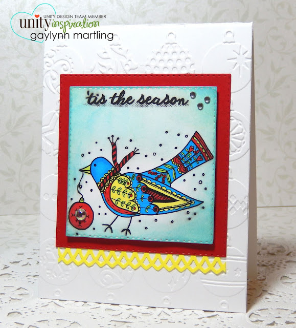 Unity Stamp: Stamp of the Week - Folksy Partridge #unitystampco #sotw #christmas #partridge #card #cardmaking #stamp #stamping #papercraft