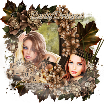 Autumn - A signature tag made by Trish Schaffer aka Lady Dragus