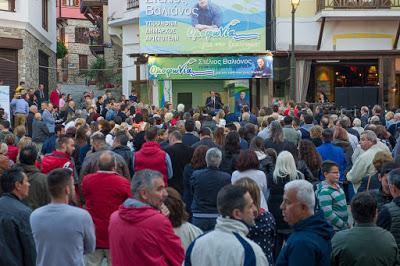 Στέλιος Βαλιάνος - Συγκίνηση και βεβαιότητα εκλογής από την 1η Κυριακή στην καταληκτική ομιλία στην Αρναία
