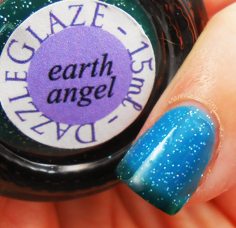 indie nail polish dazzle glaze earth angel