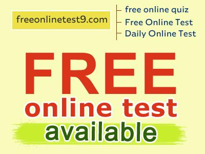 Free Online Mock Test