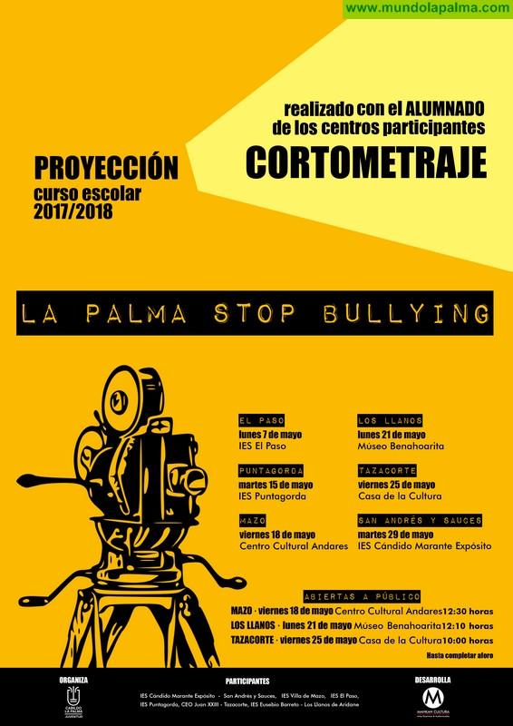 Jóvenes estudiantes de La Palma protagonizan varios cortos que alertan sobre el acoso escolar en las aulas