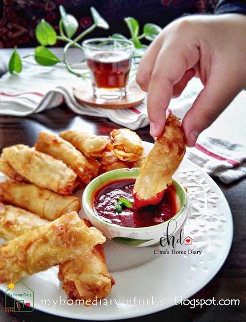 Indonesian style Fried Shrimp Chicken Dumpling / Lumpia Ayam Udang Goreng  Çitra's Home Diary . #dumpling #shrimpdumpling #chickendumpling #Indonesisch #Indonesianfoodrecipe #foodphotography #Asiancuisine #dumplingsauce #lumpiaudang #snackandappetizeridea